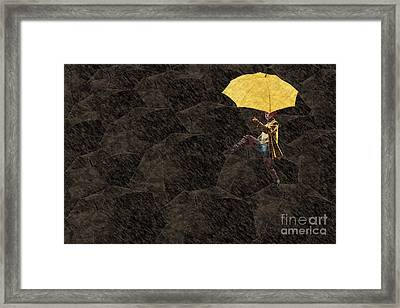 Clowning On Umbrellas 03 - A12 Framed Print