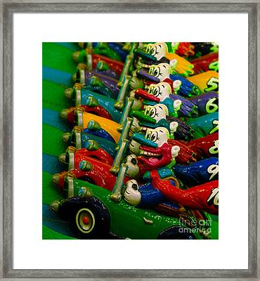 Clowns In Cars Amusement Park Game Framed Print