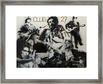 Club 27 Framed Print by Barry Boom