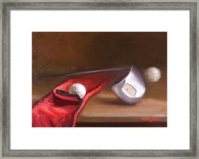 Club And Balls Framed Print