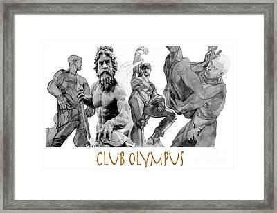 Club Olympus Framed Print by Greta Corens