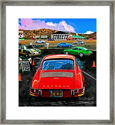 Club Racing Framed Print by Alan Greene