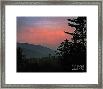 Clucks West Ossipee Mountain Sundown Framed Print