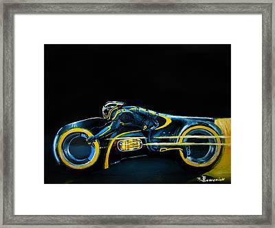 Clu's Lightcycle Framed Print by Kayleigh Semeniuk