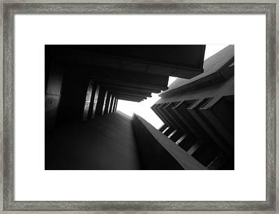 Cluster Block - Denys Lasdun Framed Print by Peter Cassidy