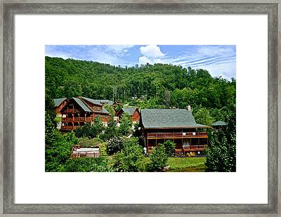 Cluster Cottages Framed Print by Frozen in Time Fine Art Photography