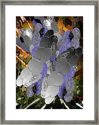Framed Print featuring the digital art Cluster by Kelly McManus