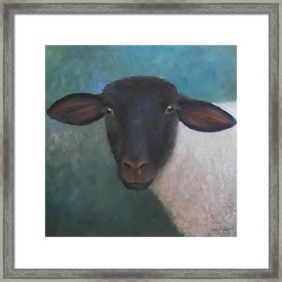 Clyde - A Suffolk Lamb Painting Framed Print