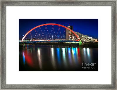 Clyde Arc Glasgow At Night Framed Print by John Farnan