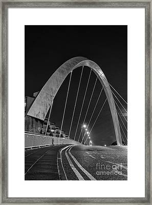 Clyde Arc Glasgow Squinty Bridge Framed Print by John Farnan