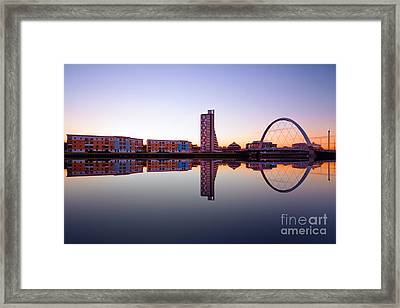 Clyde Arc  Framed Print by John Farnan