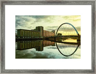 Clyde Arc Squinty Bridge Framed Print by John Farnan
