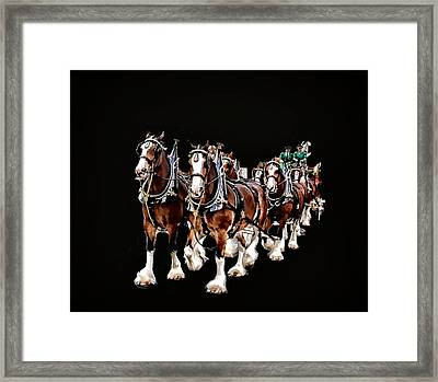 Clydesdales Hitch Framed Print