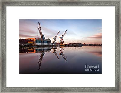 Clydeside Cranes Long Exposure Framed Print by John Farnan