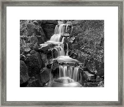 Clyne Park Waterfall Framed Print