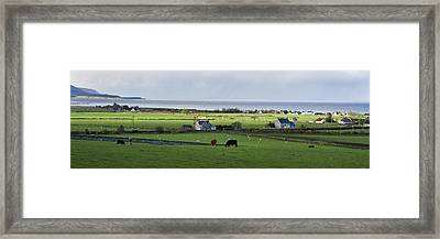 Framed Print featuring the photograph Clyneview Panorama Scotland by Sally Ross