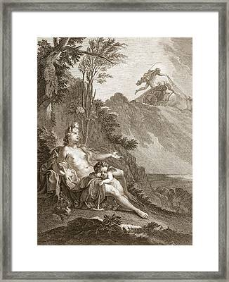 Clytia Turned Into A Turnesole, 1731 Framed Print