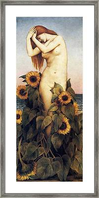 Clytie Framed Print by Veely de Morgan