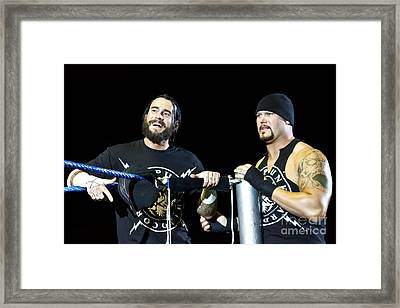 Cm Punk And Luke Gallows Framed Print by Wrestling Photos