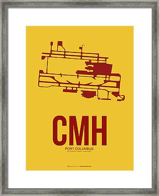 Cmh Columbus Airport Poster 3 Framed Print by Naxart Studio