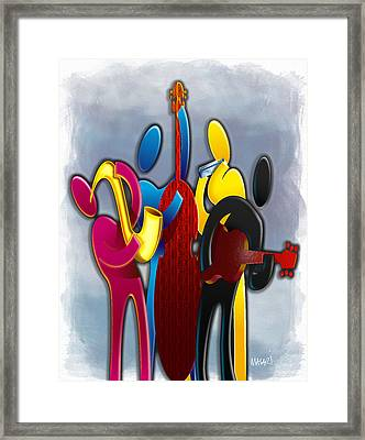 Cmyk Jazz Framed Print by Mario Macari