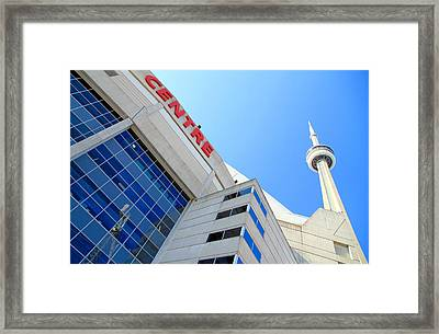 Cn Tower And Rogers Centre Framed Print by Valentino Visentini