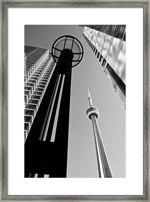 Cn Tower Surrounded Framed Print by Arkady Kunysz