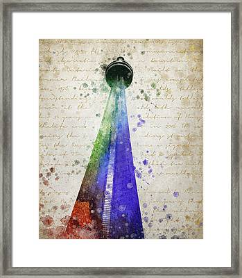 Cn Tower Toronto Framed Print by Aged Pixel