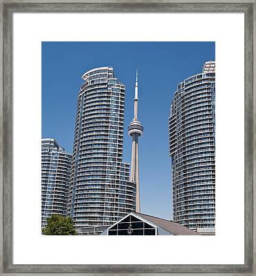 Framed Print featuring the photograph Cn Tower Toronto by Marek Poplawski