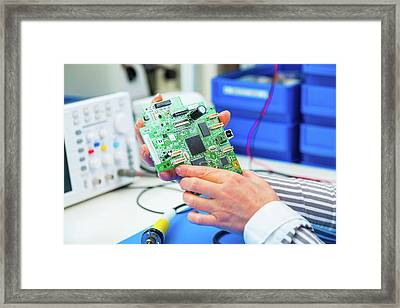 Cnc System Framed Print by Wladimir Bulgar