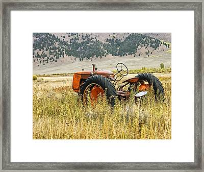 Co Op Tractor Framed Print