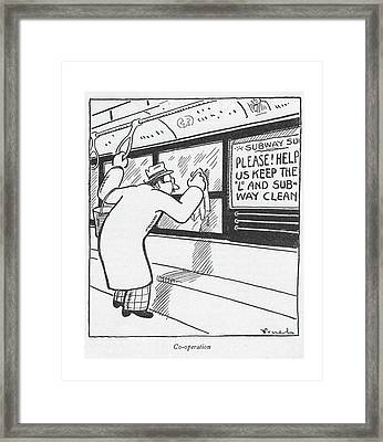 Co-operation Framed Print by Alfred Frueh