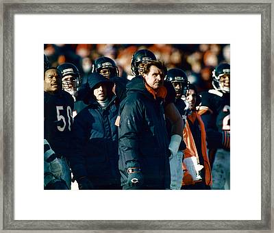 Coach Mike Ditka Framed Print by Retro Images Archive