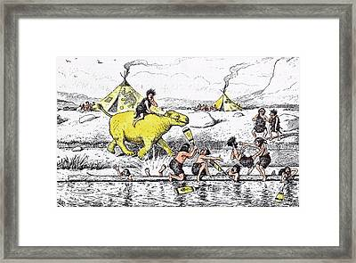 Coaching From The Bank Was No Sinecure Even In Those Days Framed Print