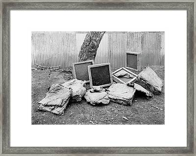 Coagulated Rubber Framed Print