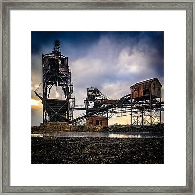 Coal Conveyor And Loader Framed Print