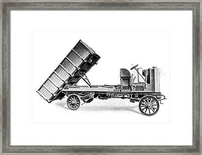 Coal Dumper Truck Framed Print by Science Photo Library
