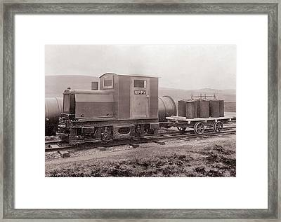 Coal Dust Explosion Research Train Framed Print by Crown Copyright/health & Safety Laboratory Science Photo Library