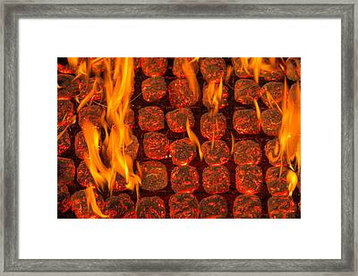 Coal Fire Framed Print