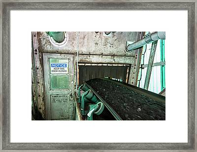 Coal-fired Power Station Conveyor Framed Print
