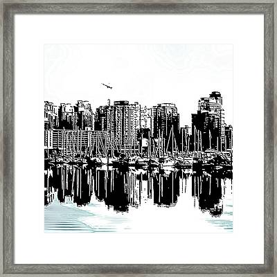 Vancouver Canada Coal Harbour Centre Panel Framed Print