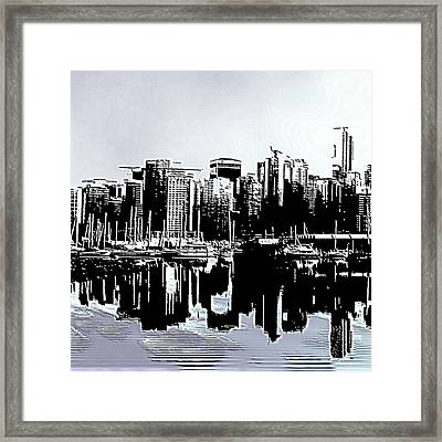 Vancouver  Canada Coal Harbour Triptych Left Panel Framed Print