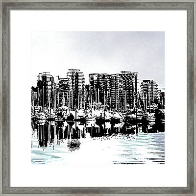 Vancouver Canada Coal Harbour Right Panel Framed Print