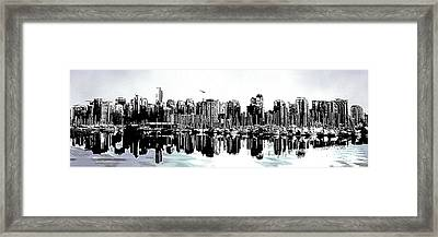 Coal Harbour Vancouver Panorama Framed Print by Patricia Keith