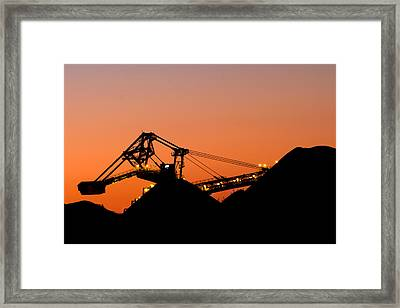 Coal Loader Framed Print by Nicholas Blackwell