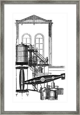 Coal Mine Pump Framed Print by Science Photo Library