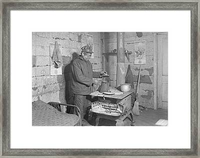 Coal Miner In His Home In Sessa Hill Framed Print by Stocktrek Images