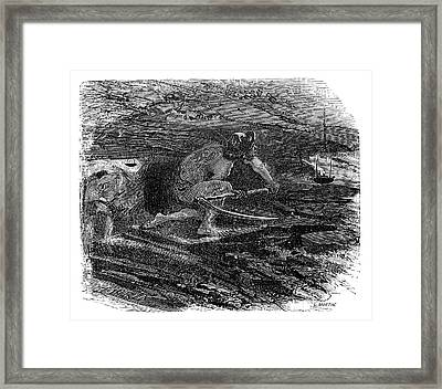 Coal Miner Framed Print by Science Photo Library
