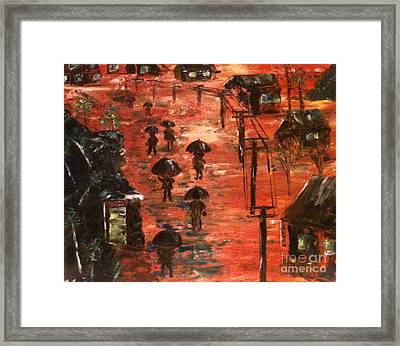 Coal Miners Cove  Framed Print