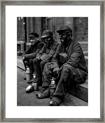 Coal Miners Dirty Job Vintage  Framed Print by Retro Images Archive